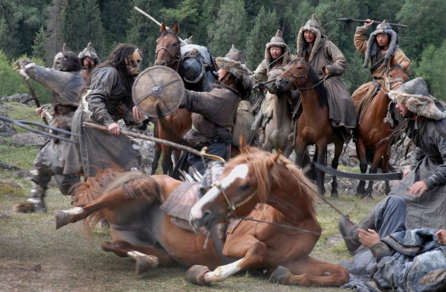 Конь упал под Чингисханом