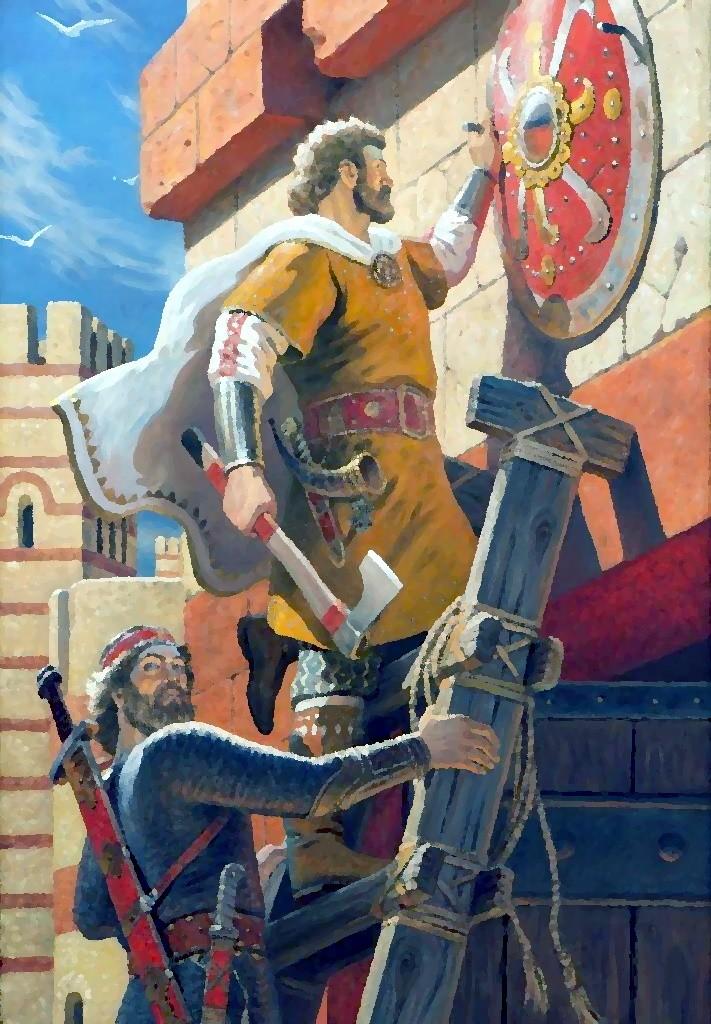 Щит князя, прибитый к вратам Царьграда