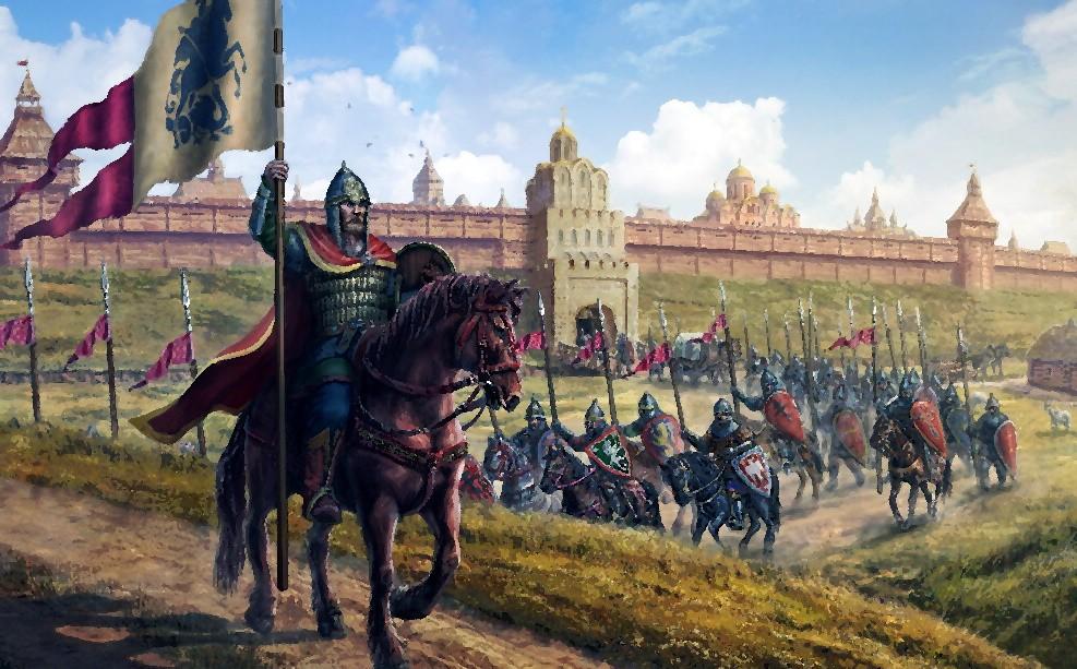 Военный поход русских воинов
