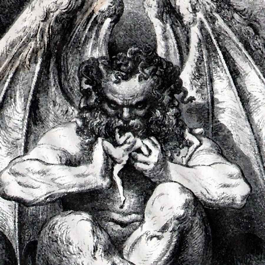 Дьявол из описания Данте Алигьери
