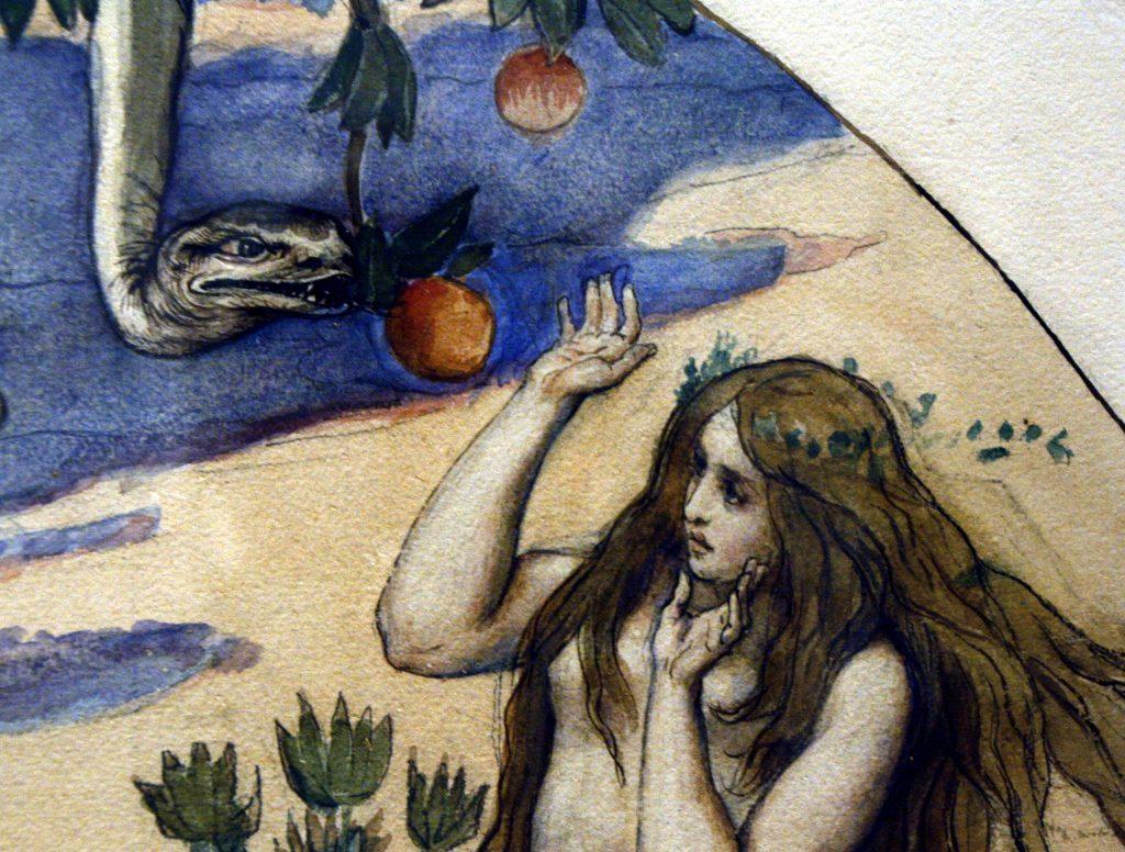 Дьявол в облике змея искусил Еву